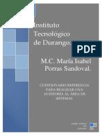 Cuestionario Referencia para la Auditoría del Área de Sistemas