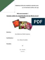 118766095 Ensayo Sobre La Exportacion de Las Flores en El Ecuador