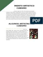 Movimiento Artistico Cubismo