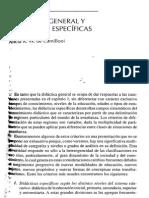 1.Camillioni, El Saber Didáctico, Cap 2, Didáctica General y Didácticas Específicas
