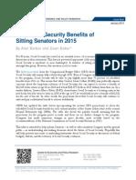 The Social Security Benefits of Sitting Senators in 2015
