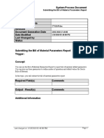 Submitting the Bill of Material Parameters Report_SPD
