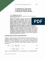 Parameter Estimation for 3-Parameter Pareto