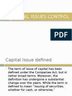 Capital Issue Control