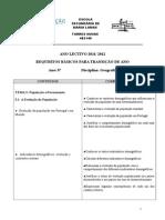 Requisitos Básicos de Transição de 8º Ano