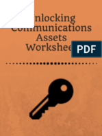 Unlocking Communications Assets Worksheet