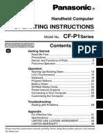 Panasonic CF-P1 PDAs and Smartphones User Manual