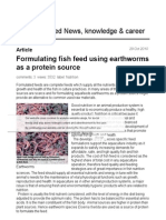 AllAboutFeed - Formulating Fish Feed Using Earthworms as a Protein Source