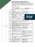 Cronograma Institucional 2014-2015 IQ
