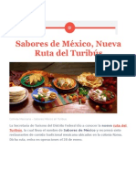 Sabores de México, Nueva Ruta Del Turibús