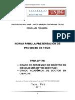 Norma Para La Presentacion de Proyecto de Tesis