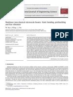 Nonlinear non-classical microscale beams