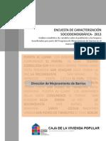 Encuesta de Caracterización Sociodemográfica 2013