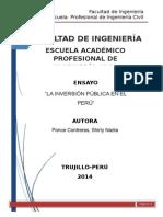 Inversion publica en peru