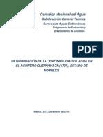 Diagnostico Acuifero Cuernavaca