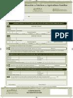Formulario de Identificación de Núcleos de Agricultura Familiar