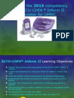 AccuChek Inform II Competency