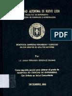 BENEFICIOS, BARRERAS PERCIBIDOS Y EJERCICIO EN DOS GRUPOS DE ADULTOS MAYORES