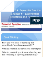 Lesson 6.4 - Exponential Functions