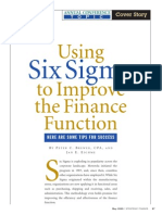 Six Sigma to Improve Finance Function