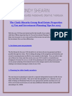 The Cindy Shearin Group Real Estate Properties 15 Tax and Investment Planning Tips for 2015