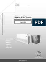 Equipamentos RHEEM Manual Piso Teto Instalacao