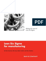 Lean Six Sigma for Manufacturing Industry - Bain & Company - 2008