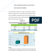 Características Socio Económica y Demográfica de La Población Del Área de Influencia