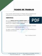 CERTIFICADO DE TRABAJO JUANA COLQUE CACERESCertificado de Trabajo Juana Colque Caceres