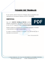 Certificado de Trabajo Nestor Chambilla Baylon
