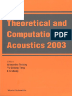Theoretical and Computational Acoustics
