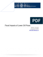 Fiscal Impacts of Lower Oil Prices