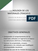 Tecnología de Los Materiales (Tem2652) c1