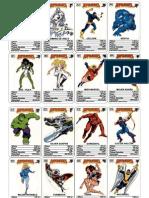 Cartas Superheroes Marvel