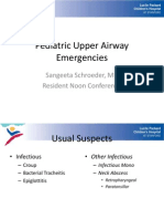 Pediatric Upper Airway Emergencies