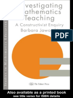 [Barbara Jaworski] Investigating Mathematics Teaching -A Constructivist Enquiry