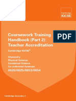 0620 0653 0654 Chemistry Coursework Training Handbook Part 2 20
