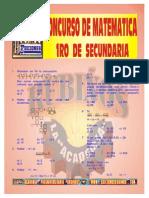 Concurso 1 de Matematicas de 1er Año de Sec- Resuelto ( Por_la_pre_rubiños )