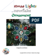 Christmas Lights Snowflake Ornament Pattern - Copyright Lori Prickett (1)