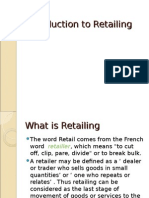 Introduction to Retailing Full- Shailja
