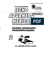 Derecho Aduanero Mexicano 2, Andres Rohde Ponce