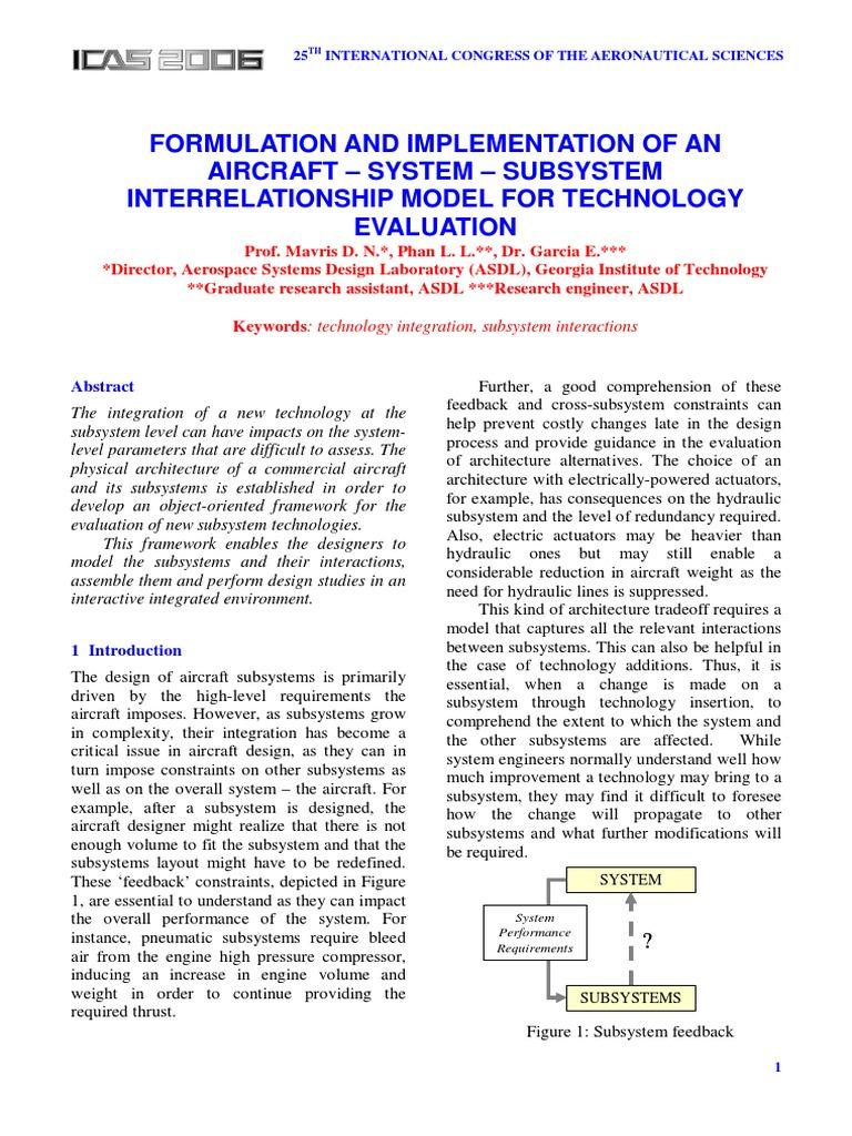 AIRCRAFT – SYSTEM | System | Simulation