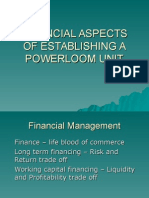 Financial Aspects of Establishing a Powerloom Unit