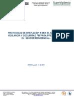 Protocolo de Operacion Para El Servicio de Vigilancia y Seguridad Privada Prestados en El Sector Residencial (Julio 24 de 2014) Supervigilancia