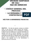 Codigo General del Proceso La demanda y su Contestación (HECTOR HERNANDEZ MAHECHA)