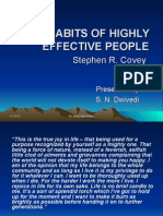 The 7 Habits of Highly Effective People May 2012