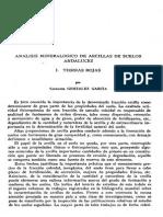 Análisis Mineralógico de Arcillas de Suelos Andaluces. I. Tierras Rojas