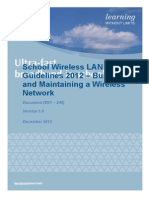School Wireless Lan Guidelines 2012 Build and Maintain