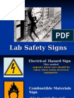 Lab Safety Signs and Precautions