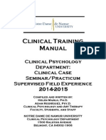 Clinical Training Manual 2014-2015